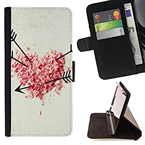 BullDog Case - FOR/LG G3 / - / Love shot Heart Arrow /- Monedero de cuero de la PU Llevar cubierta de la caja con el ID Credit Card Slots Flip funda de cuer