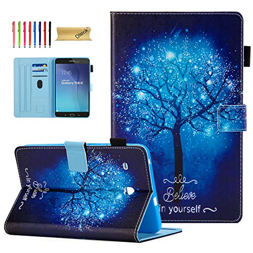 Tab E 8.0 Inch Case SM-T377/T375, Dteck Cute Colorful Design Slim Premium Leather Folio Flip Stand Cover [Card Slot] Magnetic Wallet Case for Samsung Tab E 8.0