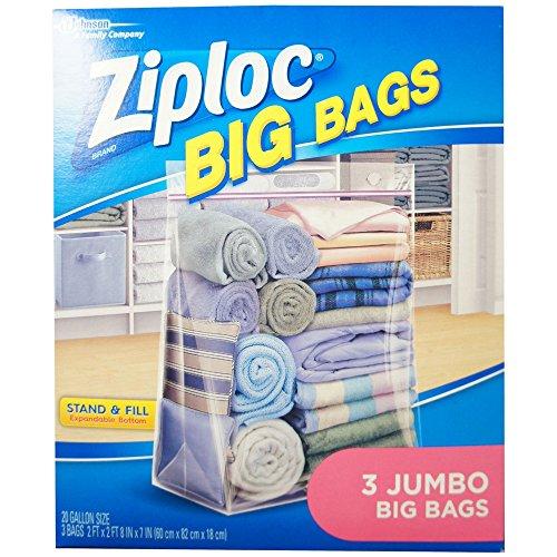 Big Storage - Ziploc Jumbo Big Bags 3 ea (Pack of 8)