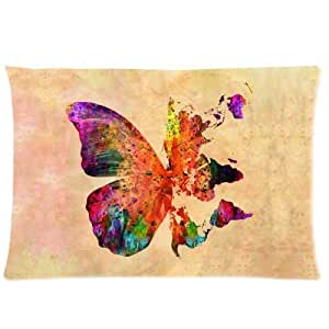 LarryToliver You deserve to have single-sided printing Plush cloth 20 X 30 inch pillowcase Butterfly Butterflies Art World Map best pillow cases