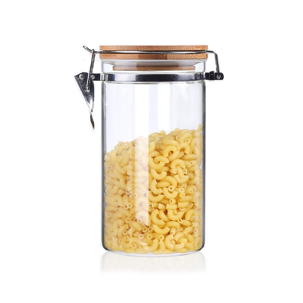 16.9 FL OZ 500ml Preserving Jars for Tea Coffee Herb Spices Sugar and More Usmascot Glass Storage Jar with Bamboo Lid Airtight Sealing Ring High Borosilicate Glass 500ml