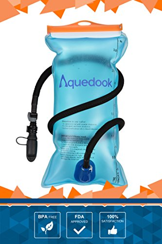 Hydration-Water-Bladder-3L100-oz-FDABPA-FreeOdorless-Leakproof-Wide-OpeningTop-QualityDetachable-Insulated-Tube-w-Shutoff-ValveSoft-MouthpieceDust-CapPreventorFor-CyclingHikingCamping