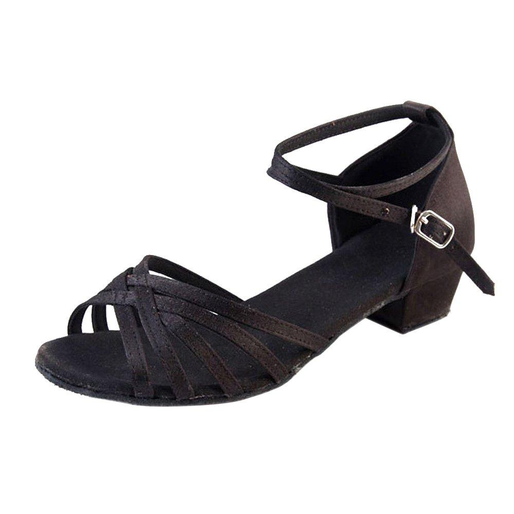 ZEVONDA Soft Sole Girls Latin Dance Shoes Training Shoes Satin Material