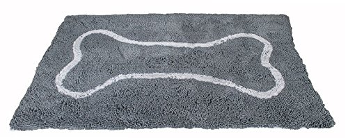 Soggy Doggy Doormat X-Large 36 x 60'' Microfiber Chenille Doormat, Grey by Soggy Doggy Doormat