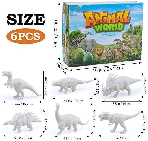 Eala 3D LED Dinosaurier Nachtlicht 3 Muster und 7 Farbwechsel Dekor Lampe mit Fernbedienung f/ür Kinder M/ädchen Jungen