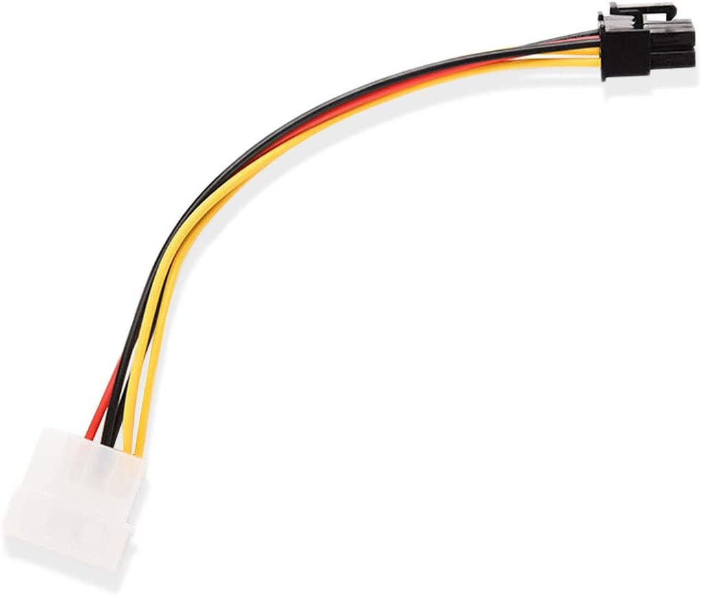 PCI Express//AGP Pro~Dual 4pin Molex Male Power Adapter Cable,PCIe//e Lot10 6pin
