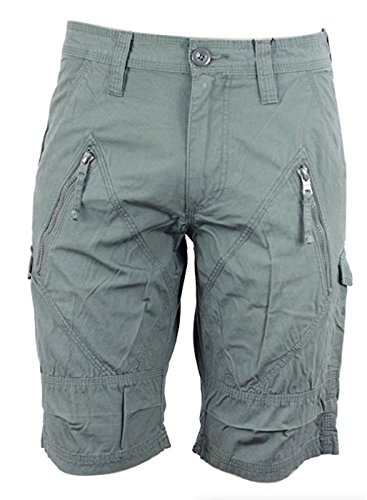- Armani Exchange AIX Utility Zip Short in Army Green, Size 34