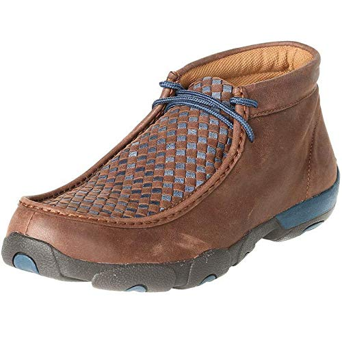 Twisted X Boots Mens Bomber/Navy Patchwork Driving Mocs 14 M Brown (Patchwork Driving)