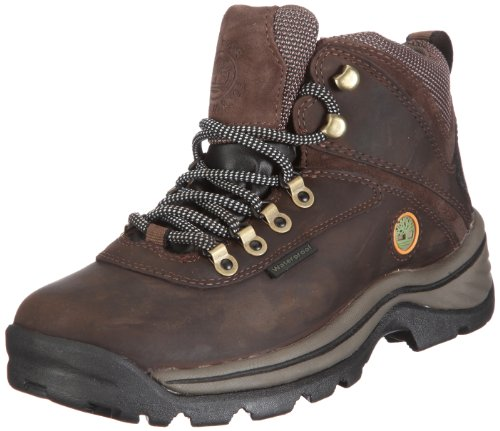 TimberlanD Women's White LeDge MiD Ankle Boot,Dark Brown,7 M US