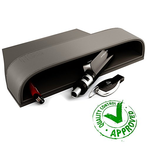 Console Side Pocket – Premium PU Full Leather Seat Console Organizer – Car Seat Gap Filler – Best Car Interior Accessories – Auto Front Seat Caddy Catcher – Best Dude Gadgets   Dark Gray