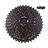 JGbike Sunrace 9 Speed Cassette 11-40T, CSM990 Wide Ratio MTB Cassette for Mountain Bike Including Extender -Black