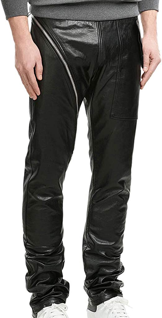 Koza Leathers Mens Leather Pant Trouser Genuine Lambskin Real Leather Casual Pant PM058