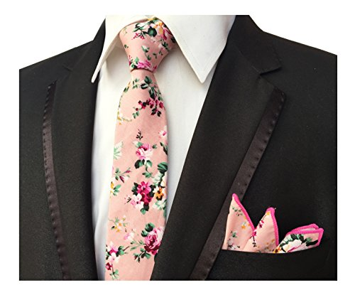 Men's Pink Fashion Moden Skinny Ties Slim Necktie for Men Boy in Different Color from Elfeves