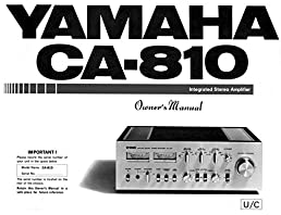 yamaha ca 810 amplifier owners manual plastic comb jan 01 1900 rh amazon com yamaha ca-810 service manual Yamaha CA 810 Owner's Manual