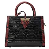 Genuine Leather Handbags for Women Top-handle Handbags Shoulder Handbags Crocodile Noble Black Shoulder Handbags for Women