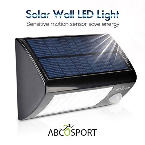Solar Wall Light 28 Super Bright LED Lights, Motion Sensor, Wall Mounted, Energy Powered ...