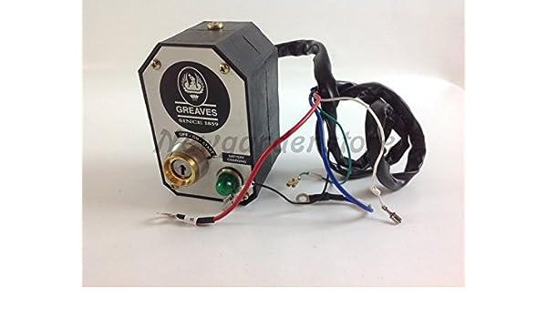 Kit blocco chiave quadro avviamento elettrico motozappa ...