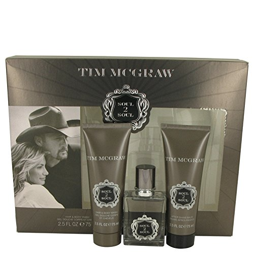 Soul 2 Soul by Faith Hill & Tim Mcgraw Gift Set -- 1 oz Eau De Toilette Spray 2.5 oz After Shave Balm 2.5 oz Shower Gel Men -  535520