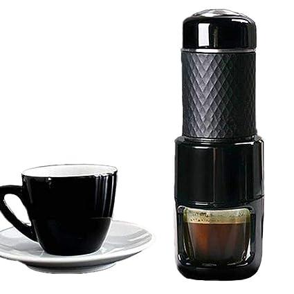 JINRU Máquina De Café Manual - Presión Portátil, 3-5 Personas, Viajes/