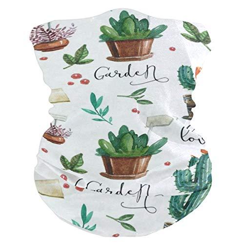 - Lovexue Cactus WatercolorHeadband Womens Bandana Mens Balaclava,Neck Warmer,Face Mask,Helmet Liner Hatliner