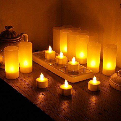 Rechargeable Flickering Led Candle Lights in US - 4