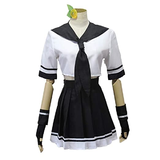 ZY Anime Girl Traje Cosplay Costume Set,White-M: Amazon.es: Hogar