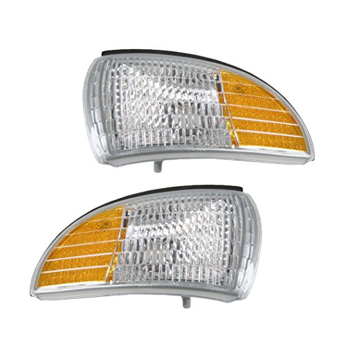 Clear Lens Side Marker Turn Signal Corner Parking Light Pair Set for Impala (Signal Turn Chevrolet Caprice)