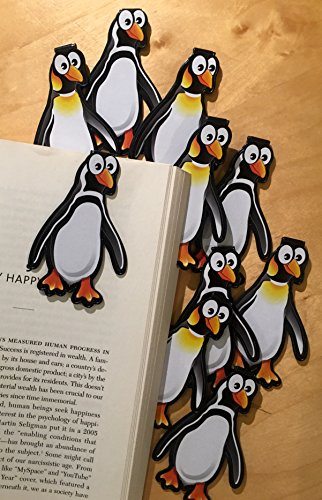 Penguin Bulk Bookmarks for Kids Girls Boys - Set of 10 - Perfect for School Student Incentives Birthday Party Supplies Reading Incentives Party Favor Prizes Classroom Reading Awards!