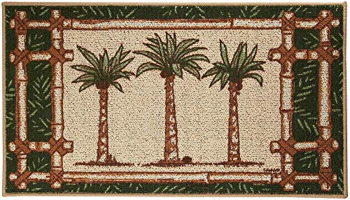 BACOVA Oasis Palm Tree Trio Berber Rug One Size -