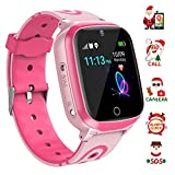 YENISEY Kids Smart Watch Waterproof for Boys Girls – WiFi+GPS Tracker Smartwatches IP67 Waterproof Fitness Tracker with SOS Camera Anti-Lost Games Touch Screen Electronic Toy Boy Girl
