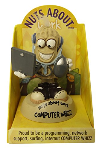 Computer Figurine - Nuts About Work 001360045 Computer Whizz Office Accessories and Decor Figurine