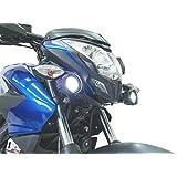 Kit 2 Exploradoras Led con Base (Faros) Marca Fire Parts, Accesorio para Motocicleta Bajaj Modelos Pulsar 200 NS