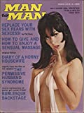 img - for Man to Man (men's magazine), vol. 23, no. 1 (March 1973) (Diary of a Horny Housewife, Permissive Husband Syndrome, Burlesque Backstage, Sensual Massage) book / textbook / text book