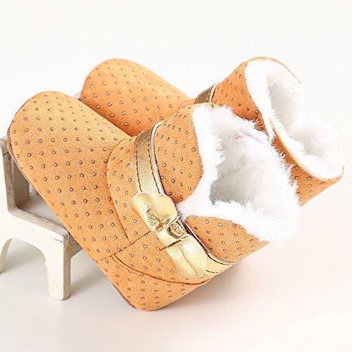Para Botas Meses Amarillo Pequeñas 0 Zapatos Niñas Suaves Auxma Nieve Bebés Por Bebé 18 De wx6qtOqpY