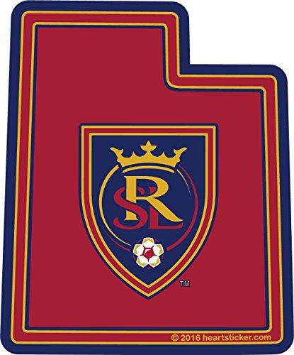 - Real Salt Lake Soccer Sticker - Utah Vinyl Decal Label Stickers, Die-Cut Shape for Water Bottle Laptop Luggage Bike Laptop Car Bumper Helmet Waterproof Show Love Pride Local Spirit. RSL MLS Team