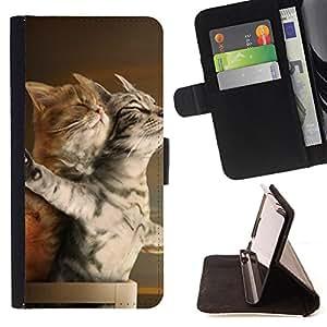 - Cat Cute Kitty - - Monedero pared Design Premium cuero del tir?n magn?tico delgado del caso de la cubierta pata de ca FOR Samsung Galaxy Note 3 III Funny House