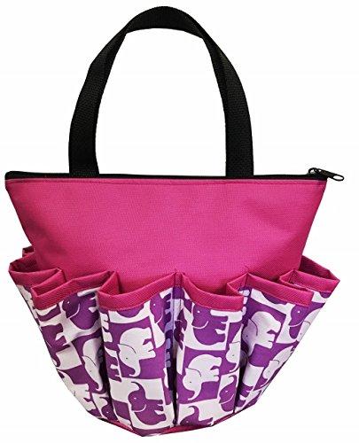10 Pocket ''Purple Elephants'' Zipper Bingo Bag