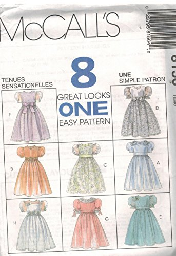 (McCall's 8156 ©1996 Girls' Dresses and Veils; Size A (7,8,10))