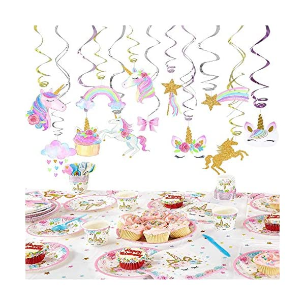 30 Ct Unicorn Hanging Swirl Decorations-Unicorn Party Decorations-Unicorn Birthday Party Supplies 7