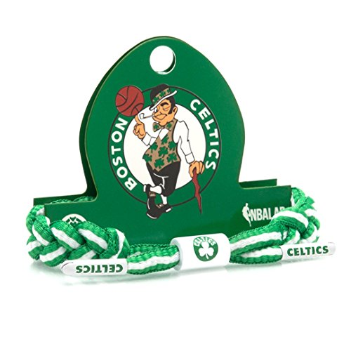 Rastaclat NBA Boston Celtics Green Basketball Shoelace Bracelet RC001CLT (Nba Celtics Basketball Shoe)