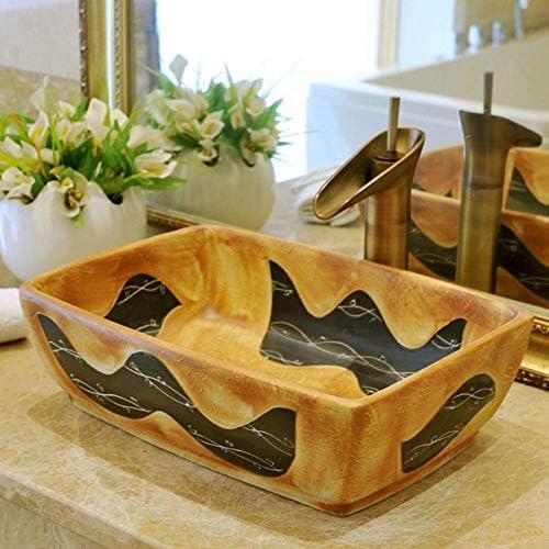 樹脂洗面台天然石楕円形埋め込みドラゴン芸術ラウンド洗面台セラミックカウンタートップバスルームのシンクの浴室の洗面台の蛇口セット