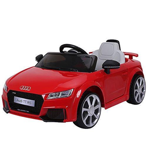 Costzon Kids Ride On Car, Licensed 12V Audi TT RS, Remote Control Manual Two Modes Operation, MP3 Lights (Red) (Licensed Car)
