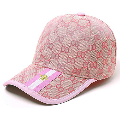 Unisex Fashion GG Baseball Caps Adjustable Quick Dry Sports Cap Sun Hat (Pink)