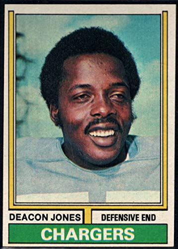 Football NFL 1974 Topps #390 Deacon Jones Chargers ()
