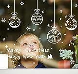 200+ Christmas Window Snowflake Clings Decor-White