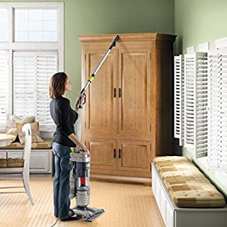 Hoover WindTunnel Air Bagless Upright Corded Lightweight Vacuum Cleaner - in use hose extension