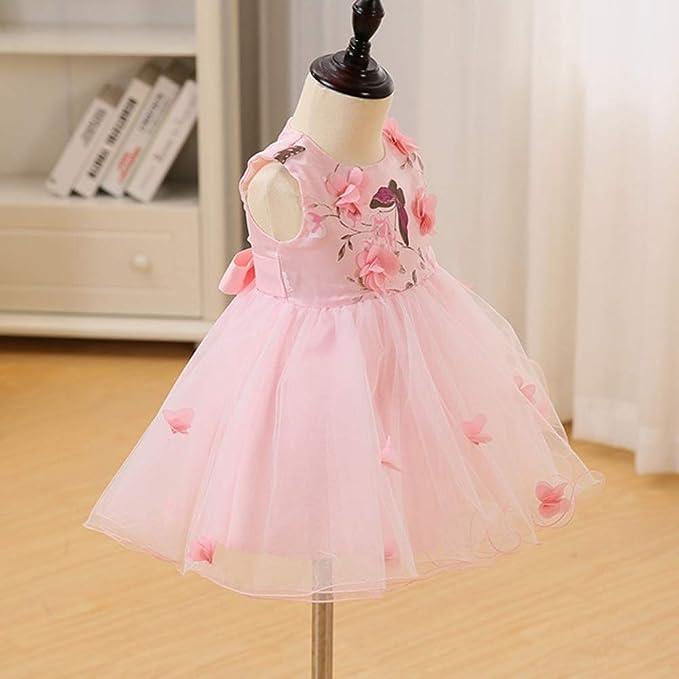 fb7a29ca48dd AHAHA Vestito Rose da Principessa Bambino per Matrimonio Abiti per Feste di  Compleanno per Bambina (0-2anni)  Amazon.it  Abbigliamento