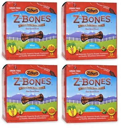 Zuke's ZBones Edible Dental Chews Mini Clean Carrot Crunch 72 count (2.06 lbs)