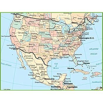Amazon.com: Home Comforts Map - USA and Mexico Map Striking ...