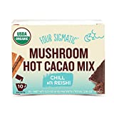 Four Sigma Foods Organic Mushroom Hot Cacao with Reishi to Relieve Stress, 25g